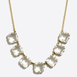 J Crew Crystal cube necklace